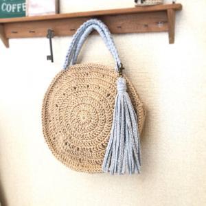 夏のバッグを編みました