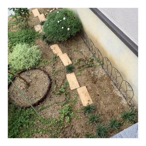 門袖横の植栽スペースの雨だれ問題@最終形?