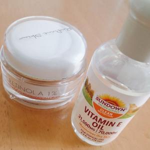 ビタミンEオイルとレチノールでお肌がつやつや。
