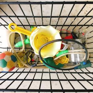 今日の断捨離 外遊び用おもちゃ。