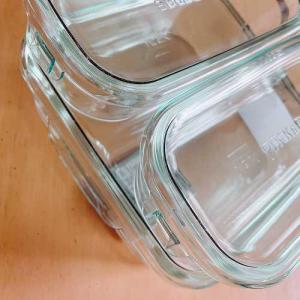 iwakiの耐熱ガラス製保存容器を使い始めました。