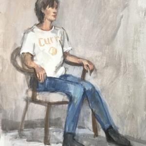 白いtシャツ カレーのお皿模様入り  F8 20分×4