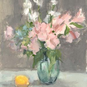 絵・になるか 絵・にはならないか ギリギリのところ 花とレモン F6