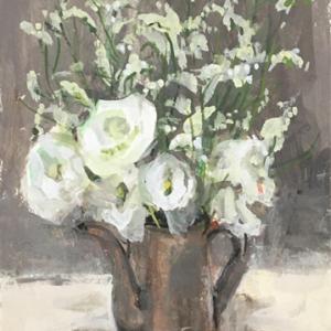ガッシュ 4号 白い花たち  雨の毎日