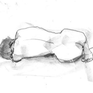 クロッキー 「横たわる」