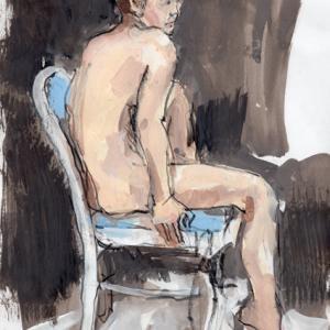 ヌードはどう描いていいのか わからん・・・・のです・・・・  ガッシュ  in山本教室