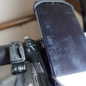 自転車に付ける280円のシリコーンゴム製スマートフォンホルダーがとてもいい