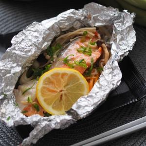 本日の配信♪鮭のホイル焼き&グリル野菜サラダでした!