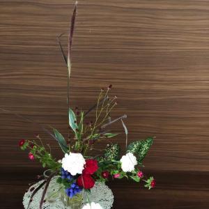 今週のお花 〜 換気扇の掃除