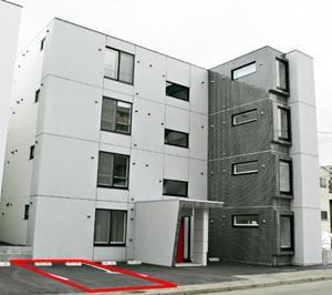 中央区北2条西21丁目月極駐車場〜札幌市内の月極駐車場紹介