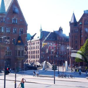 """ドイツ ハンブルクの世界遺産 """" 倉庫街とチリハウスを含む商館街 """""""