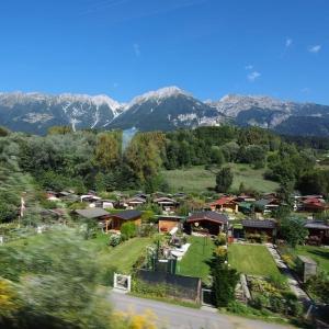 ドイツからイタリアへ。車窓はオーストリア♪