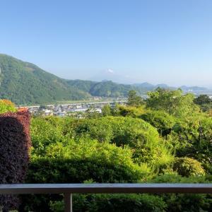 富士山見ながら温泉。