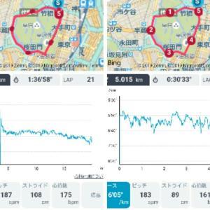 皇居Run4周+1周&ダッシュ@日比谷公園