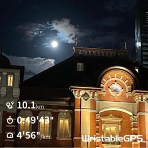 皇居グルグル、お月様、高尾山