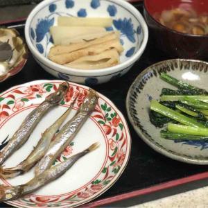 今日の晩飯「焼きシシャモ」-理想に近づく?