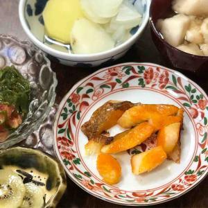 今日の晩飯「カレイのみりん漬け焼き」-