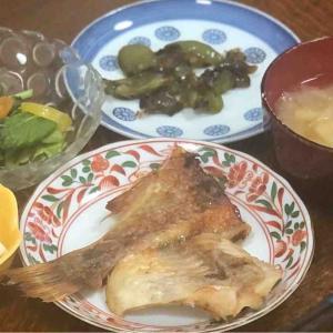 今日の晩飯「干し赤魚の焼いたの」-さてどうなるか