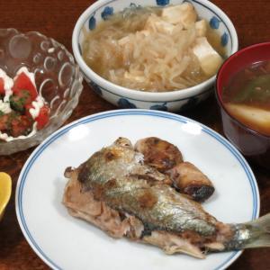 今日の晩飯「肝たっぷりニシンの塩焼き」-滝野川迷路