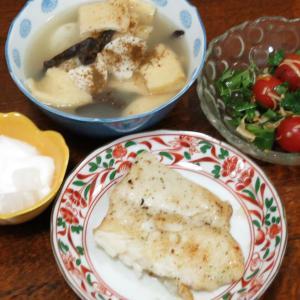 今日の晩飯「骨無し白身魚アンチョビソース焼き」-粛々と