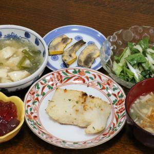 今日の晩飯「骨無し白身魚のガーリックパン粉焼き」