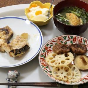 今日の晩飯「マグロのテール焼き」
