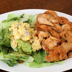 今日の昼飯と晩飯「甘辛チキンのオーブン焼き」