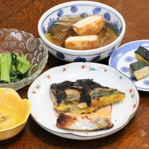 今日の晩飯「鮭とサバの西京漬け焼き」