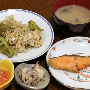 今日の晩飯「焼き塩鮭」