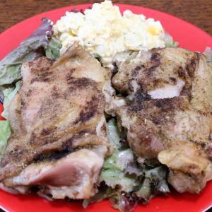 今日の昼飯と晩飯「鶏モモ肉のオレガノ焼き」