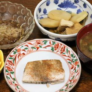 今日の晩飯「カジキマグロのピリ辛山椒焼き」