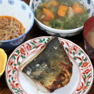 今日の晩飯「ホッケの粕漬焼き」