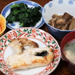 今日の晩飯「カラスガレイの塩焼き」
