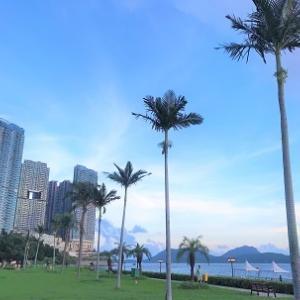 西の果て!夕日が見える静かな海浜公園「數碼港海浜長廊公園」☆Sunset at Cyberport Waterfront Park