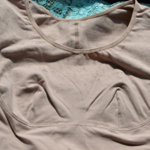 ニッセン姿勢きれい イーストレッチインナー(綿混 脇汗取りパッド付フレンチ袖タイプ)