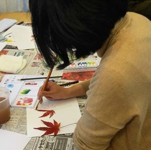 「てずくなLabあーと教室プレ講座『ちょびちょび法で色づくり』開催されました