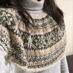 ブークレー糸で編み込みプルオーバー②