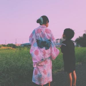 水着と浴衣さがし(娘と息子用)