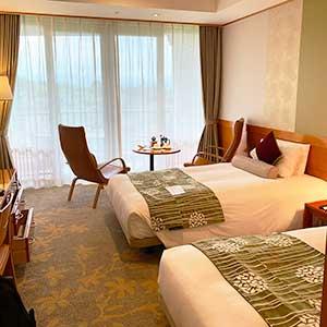 軽井沢浅間プリンスホテル宿泊記・コンフォートツインレビュー。食事も美味しくてゴルフ滞在におすすめ。