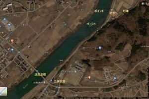 北上川ポイント紹介8.黒岩の岩盤