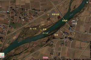 北上川ポイント紹介18.長徳橋下流