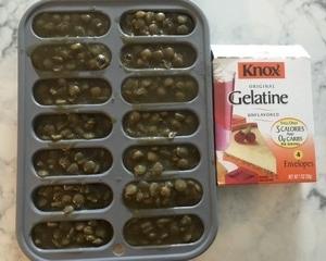 豆アイスにゼラチンを入れてみた