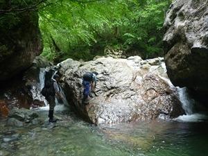 美しいナメと滝 笹穴沢(竹内秀樹)