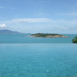タイ バンコク&サムイ島旅5日目誰もいない海とプールで ∩^ω^∩
