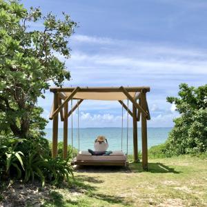 石垣島&小浜島旅3日目はいむるぶしのビーチとブランコとプール ☆(๑˃̵ᴗ˂̵)☆