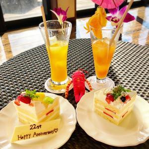石垣島&小浜島旅3日目はいむるぶしの記念日ケーキと星空カフェ ♪(*^^)o∀*∀o(^^*)♪
