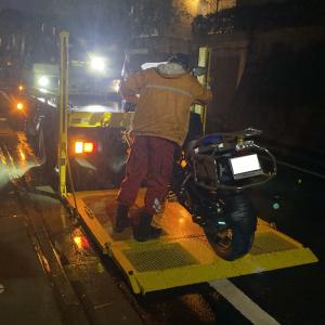 R1200GS ADVENTURE 台風19号による冠水被害 前編