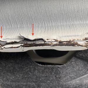 初の不具合発生 ジャッキアップポイントの塗装剥がれ CIVIC TYPE R シビック タイプR(FK8 後期)
