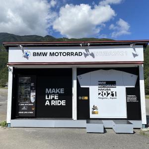 BMW MOTORRAD HAKUBA 2021 Tシャツをゲット! そして痛恨のTACHIGOKE!(4年ぶりGSAで初)R1200GS ADVENTURE