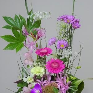 ○ピンクのお花たちのリメイク2態